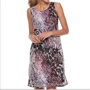 Women's DANA BUCHMAN Purple Overlay Dress